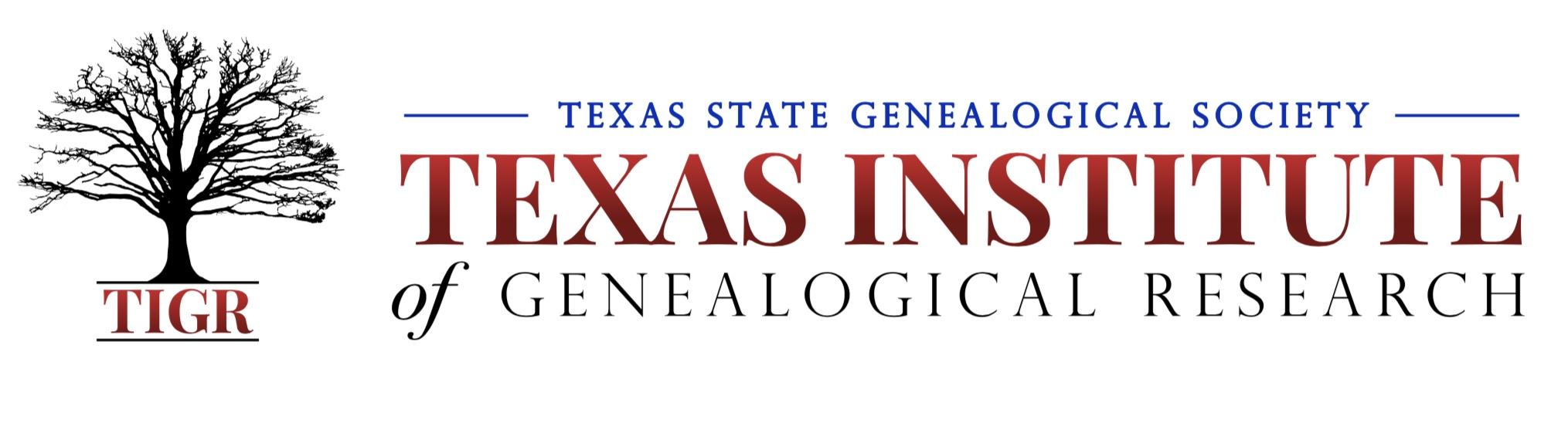 Tigr 2019 Faculty Texas State Genealogical Society