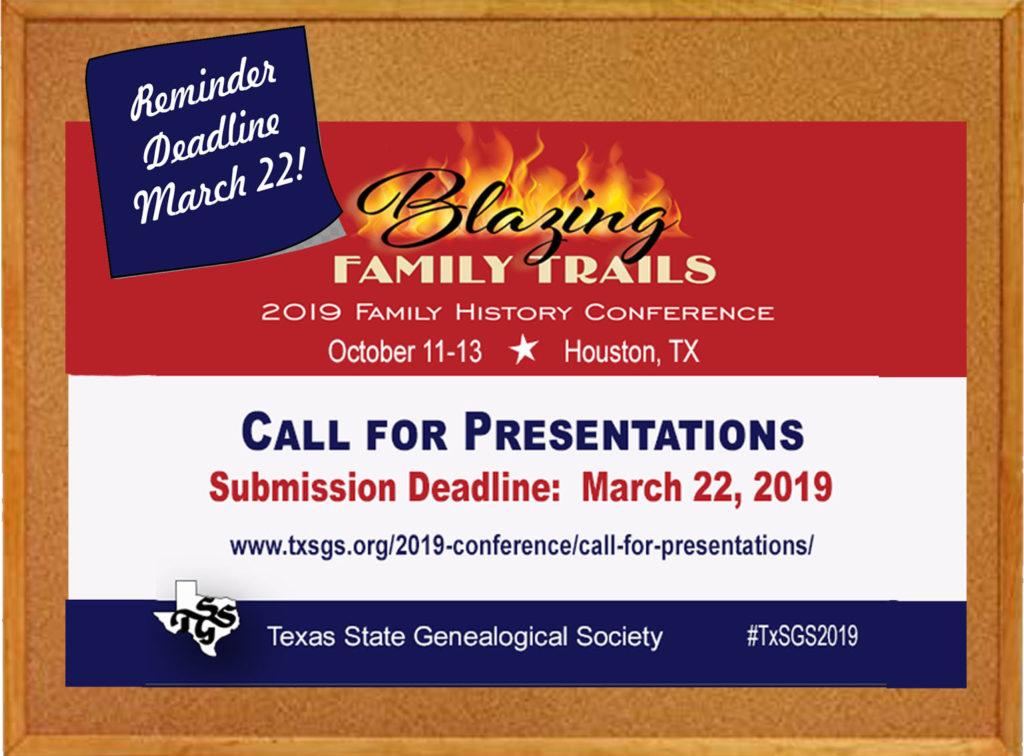 9bc2f7ed1 Reminder: March 22 is Deadline for 2019 Conference Presentation Proposals